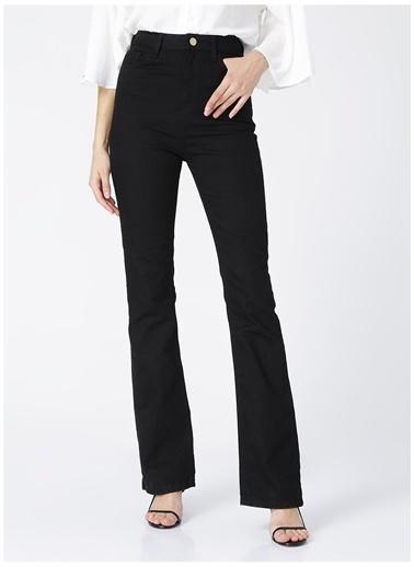 NetWork Network Kadın Siyah Yüksek Bel Dar PaçaDenim Pantolon Siyah